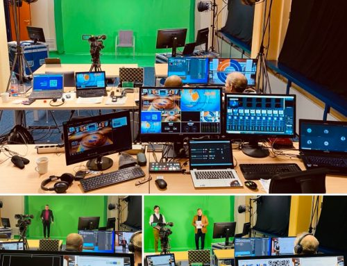 Hybrid-/Streaming-Event im virtuellen Studio